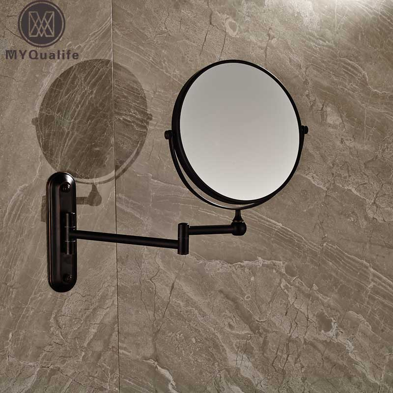 Bathroom Magnifying Mirror Extending Wall Mounted Double Side Round Folding Make Up Shaving Mirror
