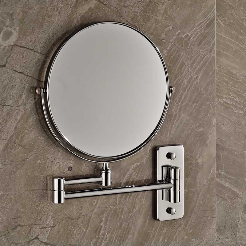 Extending Folding Double Sides Round Make Up Magnifying Mirror Home Bathroom Wall Mounted Shaving Mirror Chrome Finish