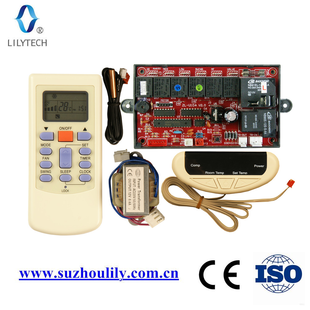 ZL-U10AM,Universal A/C control system,Cabinet AC control PCB,Universal a c controller,Remote and Board, lilytech controller