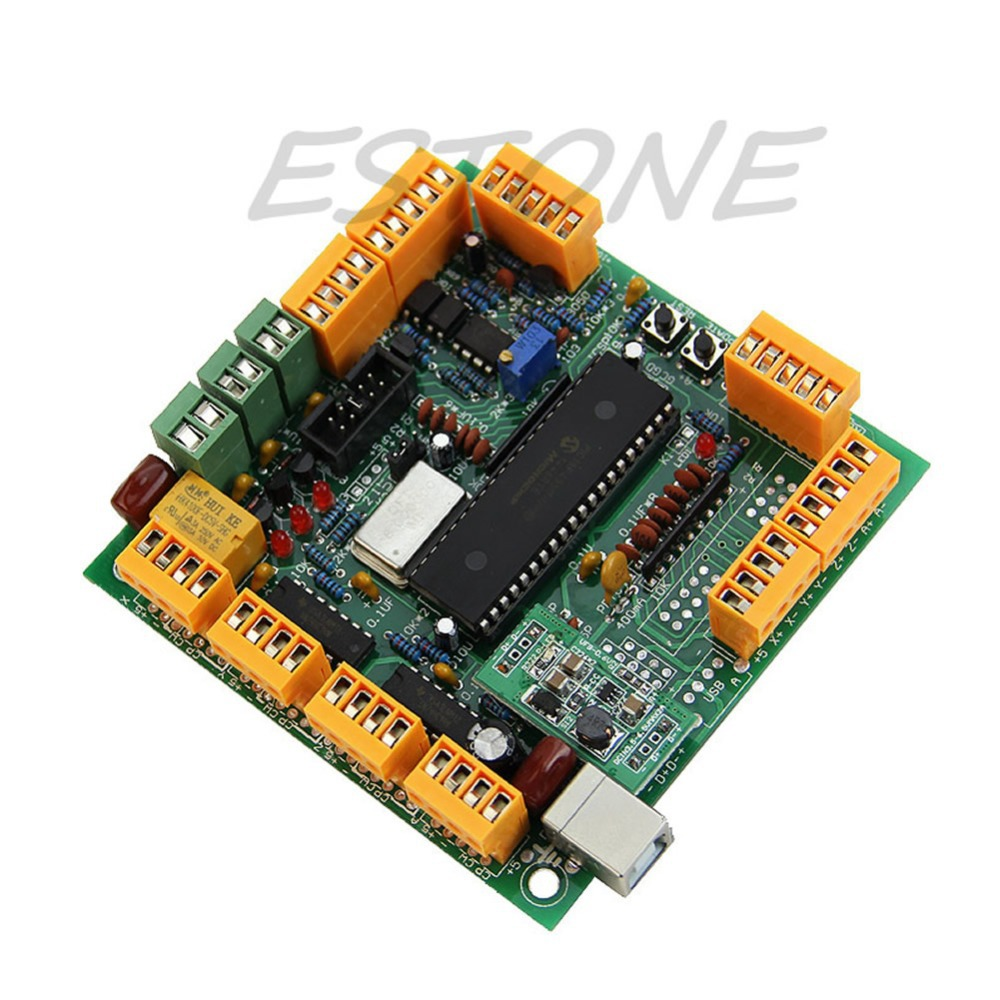 Usb Cnc 21 4 Axis Controller Interface Board Mk1 Pwm Speed For 300w Spindle Motor Kits Support Ac And Dc