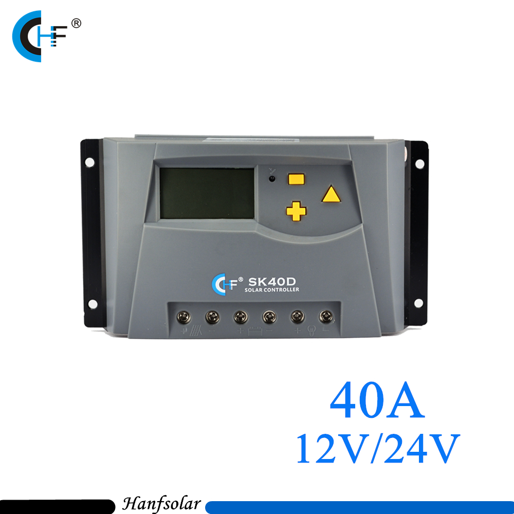2pcs/lot 40A Solar Charge Controller 12V 24V LCD Display SK40DU Light Timer Control Working Storage Function