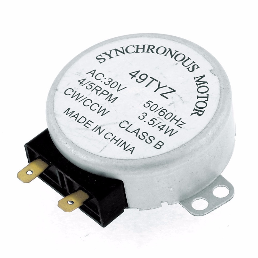 1PCS AC30V 3.5/4W 4/5RPM Micro Synchronous Motor for Microwave Oven