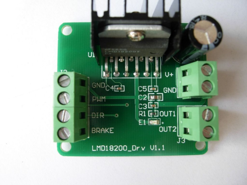 LMD18200T DC Motor Driver Module Board PWM Adjustable Speed
