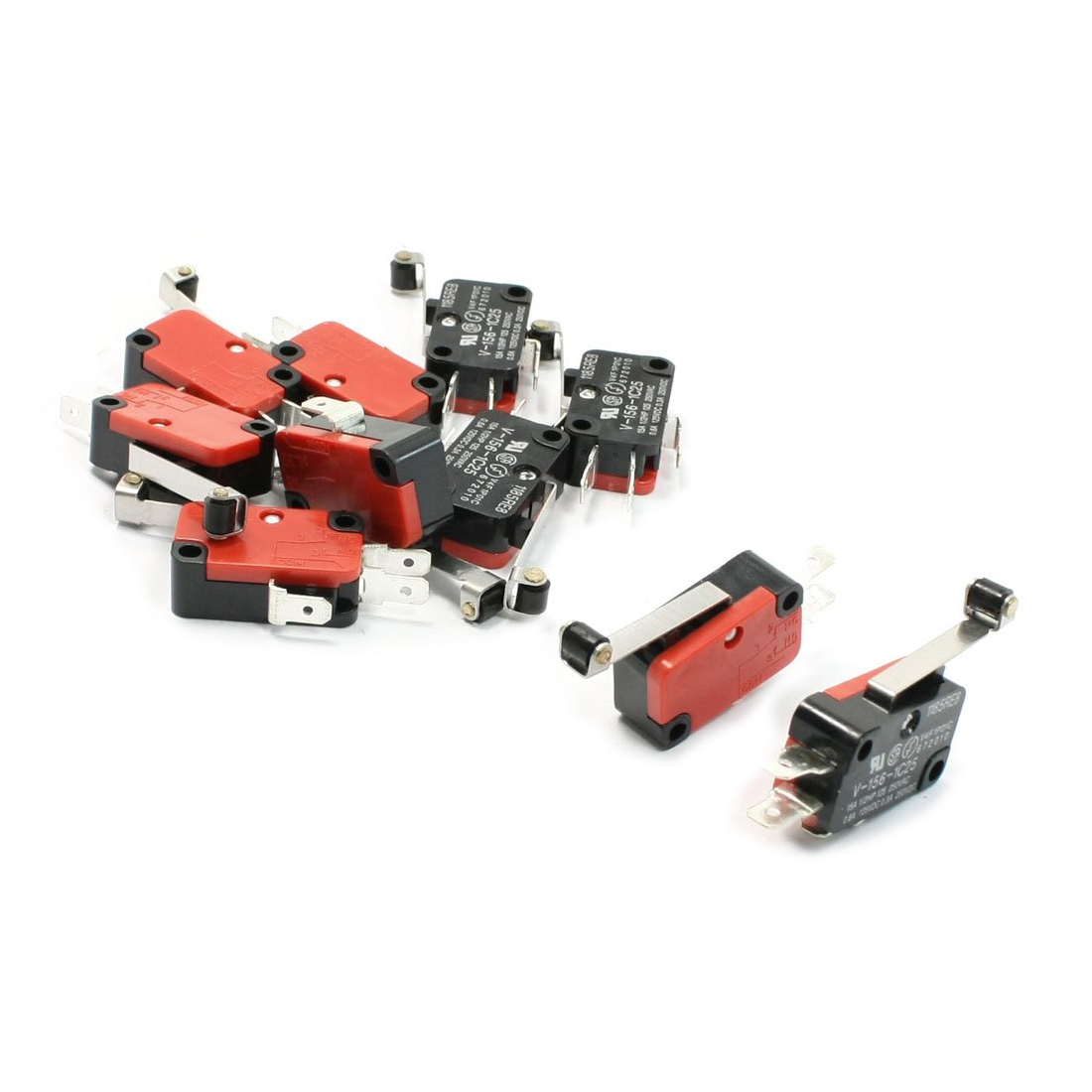 Promotion! 10 Pcs Micro Limit Switch Long Hinge Roller Lever Arm Snap Action LOT