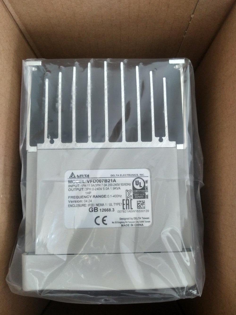 DELTA VFD007B21A VFD-B Inverter Frequency Converter 750w 1HP 1 PHASE 220V 400HZ