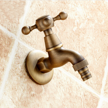 High Quality Antique Bronze Bibcocks faucet use for garden Bathroom Wall Mounted Washing Machine