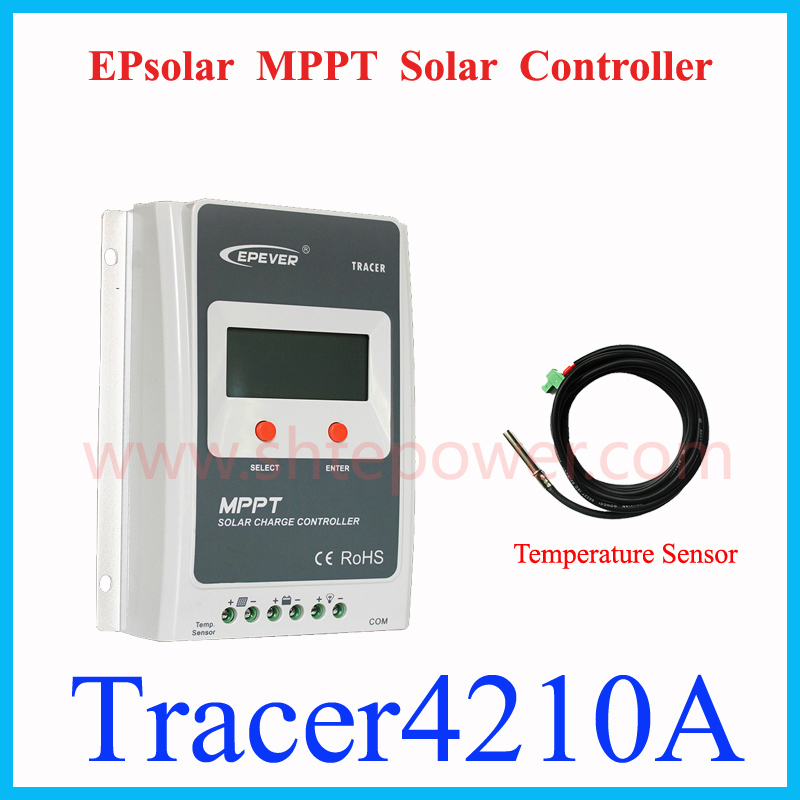 EPEVER 40A MPPT Solar Charge Controller Tracer4210A 12V 24V Auto Work 100VDC input EPSOLAR NEW Brand Solar Regulator LCD Display