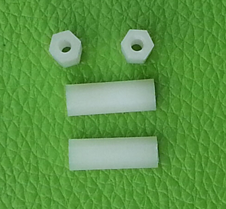 100pcs M3*19 mm Nylon column Hexagon straight column separation column support plastic separation column Two-way stud