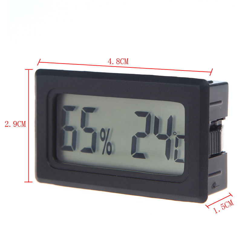 Mini Digital LCD Thermometer Hygrometer Humidity Temperature Meter Indoor thermometre estacion metereologica station meteo