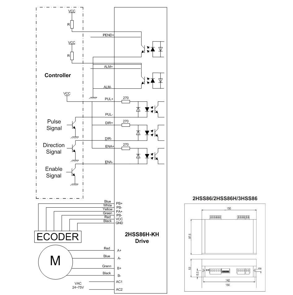 2 phase NEMA 34 12N.m 1699ozf.in Closed loop Stepper servo motor driver ...