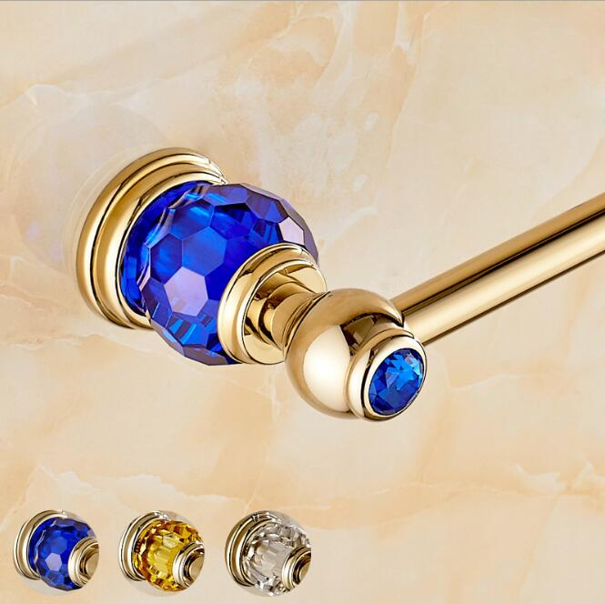 Luxury Golden crystal single Towel Bar,Towel Holder,Gold Finished,Bath Products,Bathroom Accessories towel bars