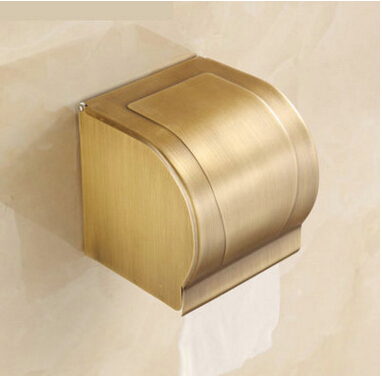 High Quality Antique paper holder brass bathroom tissue box waterproof toilet paper box toilet paper holder toilet paper rack