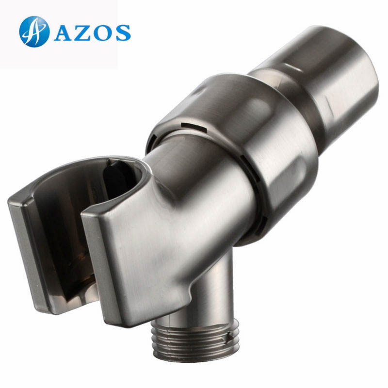 Adjustable Hand Shower Arm Mount with 1/2 IPS Swivel Ball Connector Universal Showering Component Chrome/Brushed Nickel HSZ002