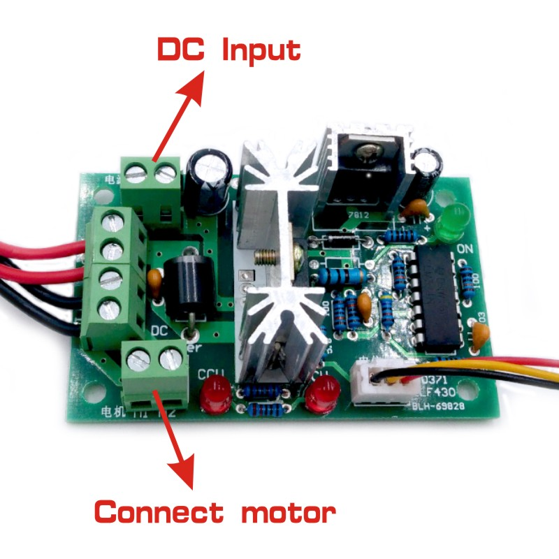 10V 12V 24V 36V PWM DC controller with Positive inversion switch PWM DC controller for DC motor speed controller 150W