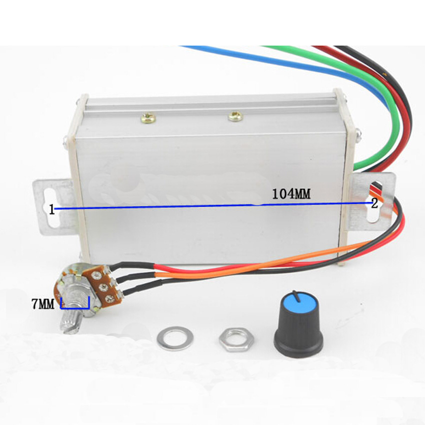 PWM DC motor continuously variable transmission PWM motor speed control switch 9V12V24V48V60V Speed governor 20A