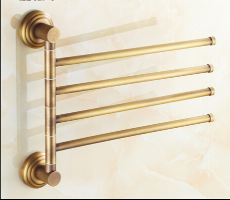 Antique Swivel Brass Vintage Style Bathroom Revolve Towel Bar Bathroom Rack Towel Bars Bathroom Towel Rail Rack Towel Hanger