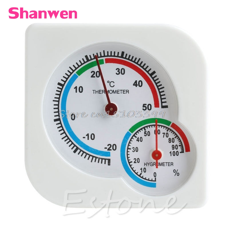 Mini Digital Indoor/Outdoor Thermometer Hygrometer Temperature Humidity Meter A7 #G205M# Best Quality