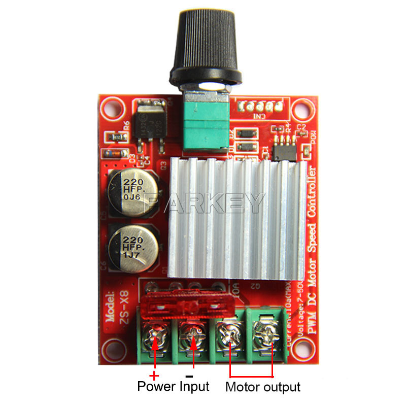 5PCS DC7V-DC50V PWM DC Brush Motor CVT / PWM Motor Speed Control Switch / Speed Controller 12V / 24V 10A  PWM Motor