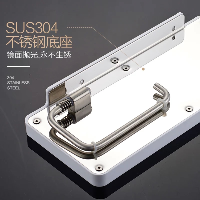 stainless steel 304 paper holder with hook bathroom holder plate with cloth hook,Roll Holder,Tissue Holder With Cover