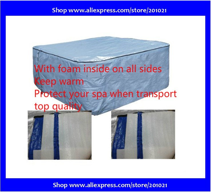 Best quality hot tub thermal Cover bag with foam inisde fit spa Size not more than 213x213x90cm Esp  for Scandinavian Regions