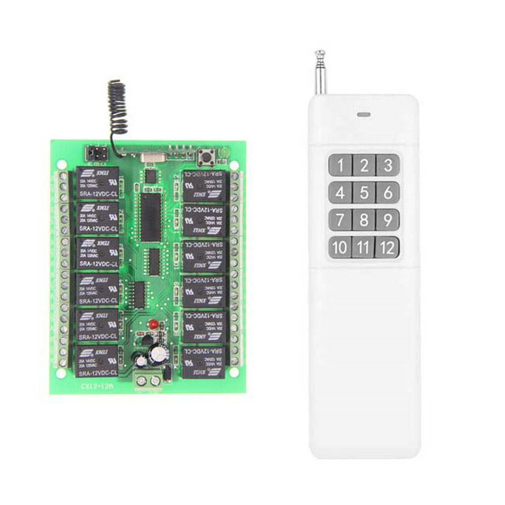 3000M Long Range DC 12V 24V 12 CH 12CH RF Wireless Remote Control Switch System,315/433.92 Mhz,Transmitter + Receiver