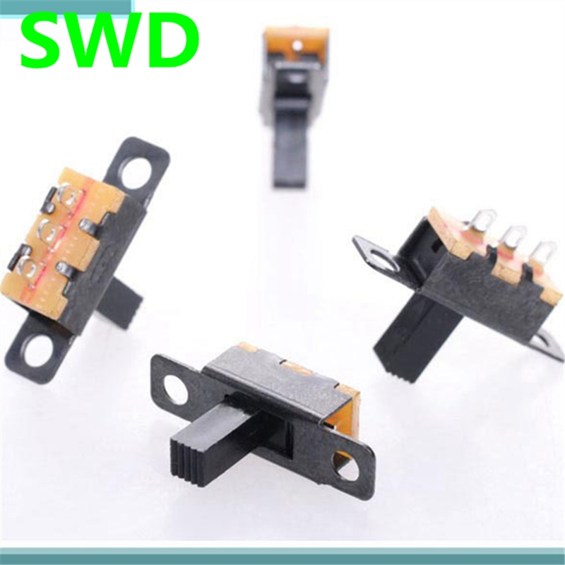 20pcs/lot  3 Pin 2 Position Black Mini Size SPDT Slide Switches On-Off PCB  DIY Material Electrical Tools Solder Lug #DSC0039