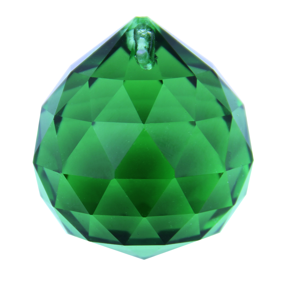 40mm  Dark Green 40 pcs/lot  Crystal Faceted Ball  Glass Lighting Hanging Ball  K9 Crystals Christmas Decorations For Home