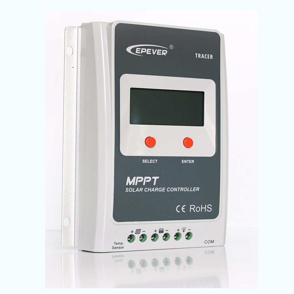 EPEVER 40a mppt solar controller,Tracer4210a 12v 24v auto work pv battery charge regulator