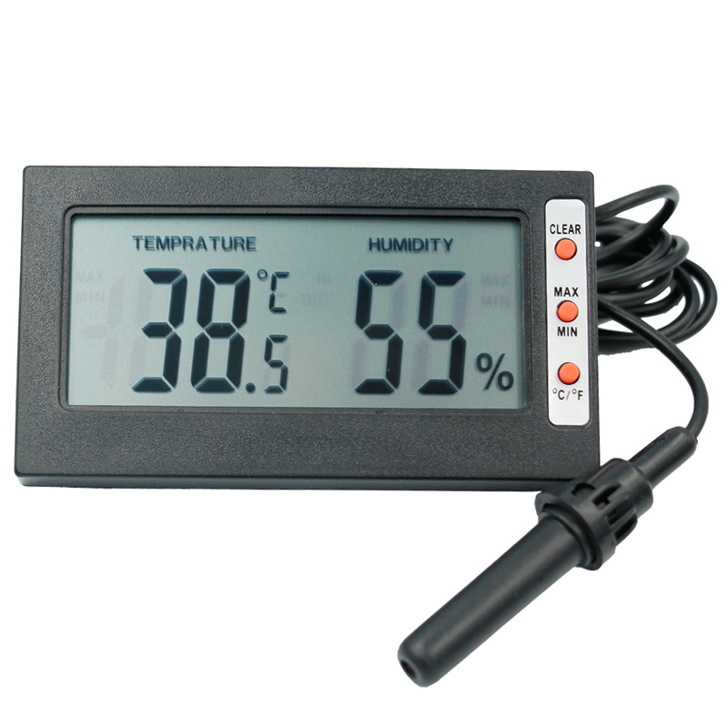 digital Thermometer Hygrometer Temperature Meter TEMP Humidity tester LCD display  RH Max Min with large screen