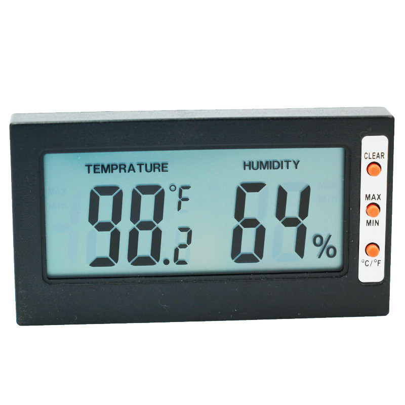 big screen LCD Temperature Sensor Humidity Meter digital Thermometer Hygrometer Celsius Fahrenheit portable tester 5% off