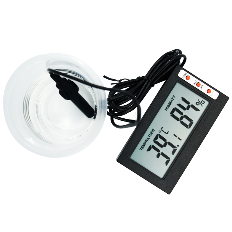 Temperature Humidity Gauge Indoor/Outdoor Digital LCD Thermometer Hygrometer Meter Wired External Sensor Tester