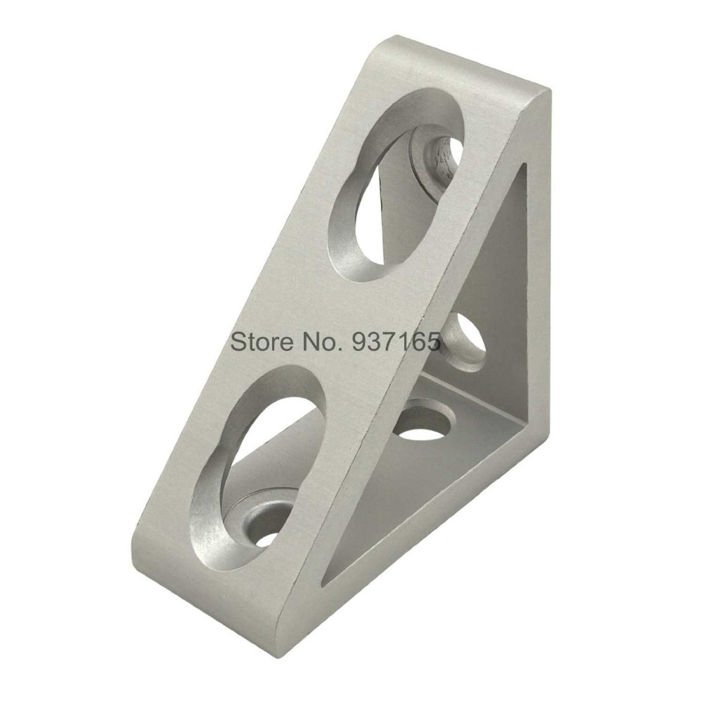 4 hole Inside Guesset Corner Angle L Brackets Fastener Fitting Round Hole for 3030 30x30 Aluminum Profile Extrusion 3030