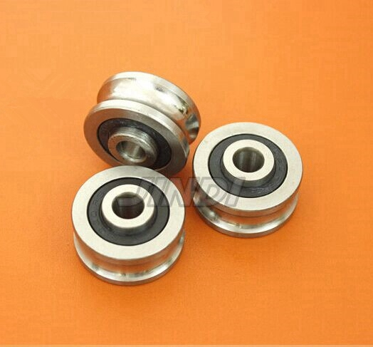 50pcs/lot  SG10 2RS U Groove pulley ball bearings 4*13*6 mm Track guide roller bearing SG4RS (Precision double row balls) ABEC-5