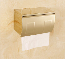 New Arrival Gold finishing Paper Holder/Roll Holder/Tissue Holder,Stainless Steel Construction Bathroom Paper Roll Holder
