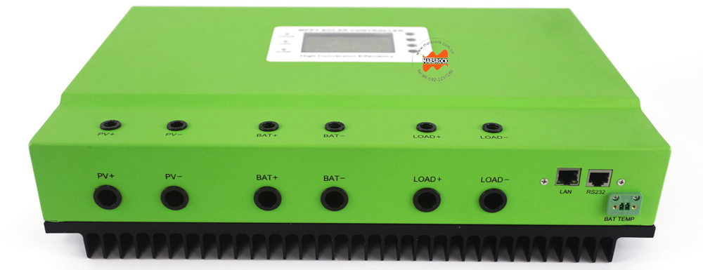 99% Max. Efficiency 80A MPPT Solar Controller with High Intelligent Auto Sensing DC12V 24V 36V 48V System and RS232 LAN Ports