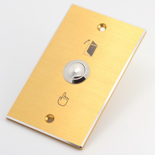 ELEWIND Door bell push button with rectangular golden panel(PM191B-10/S)