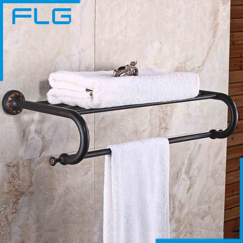 FLG Wall mounted Bathroom Accessories towel holder ORB Finished bathroom towel holder