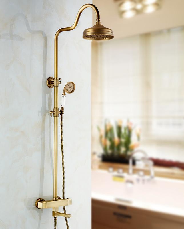Antique Br Shower Faucet Tub Spout