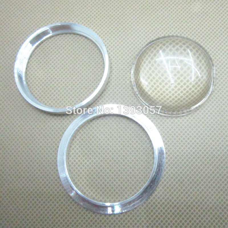 10 set 44mm LED Glass Lens + Screw Mounting Ring For 10W 20W 50W Integrated Cob Spot Lights