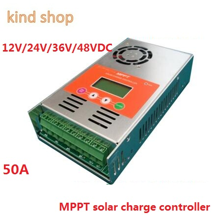 MPPT Solar Charge Controller 50A 12V 24V 36V 48V auto switch LCD display 50A MPPT Solar Charge Controller