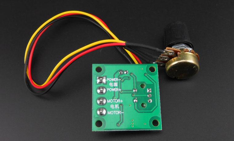 1 8V 3V 5V 12V PWM DC Motor Speed Controller ultra small LED Light