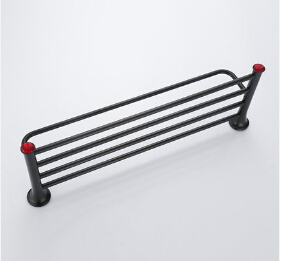High Quality New Towel Rail Black Oil Towel Holder Copper Material Bathroom Accessories Wall Mounted Towel Racks Towel Shelf