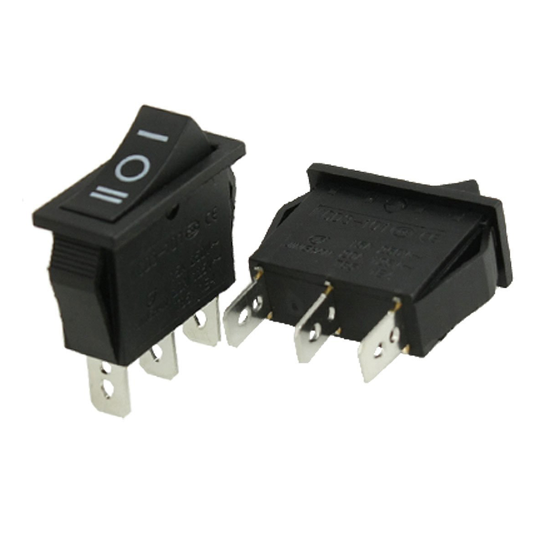 Promotion! 5 pcs x AC 10A/250V 15A/125V 3 Pin SPDT ON-OFF-ON 3 Position Boat Rocker Switch