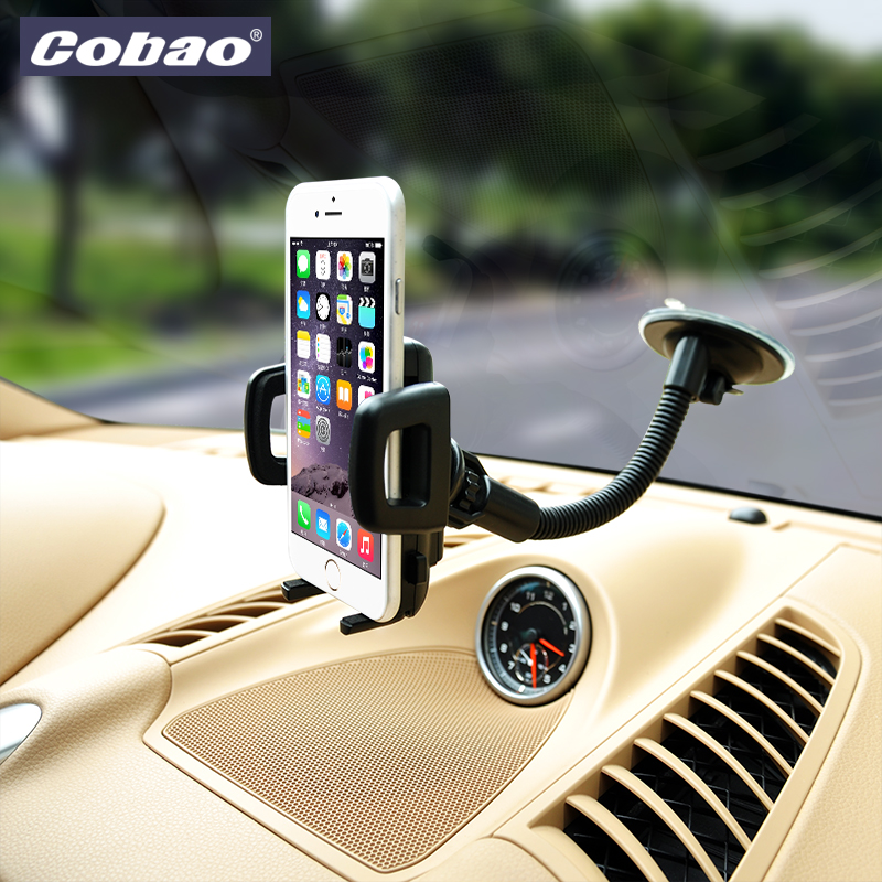 Universal windshield car phone holder stand Cobao brand smartphone mount holder for xiaomi note iphone 5 5s 6 6s galaxy s4 s5 s6