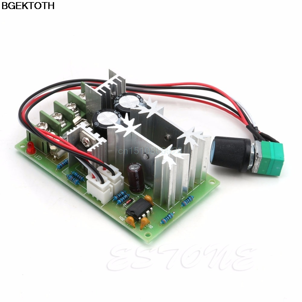 1set Universal 20A DC10-60V PWM HHO RC Motor Speed Regulator Controller Switch New