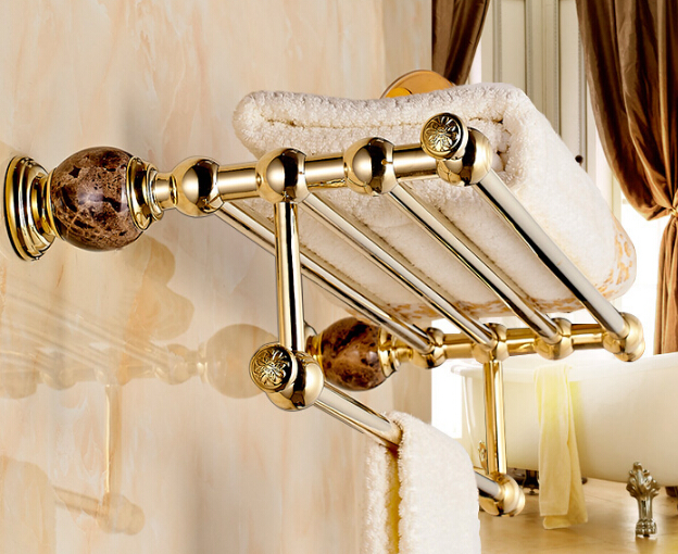 New Arrivals Wall Mounted  Towel Rack, Gold Towel Bar,European Style Towel Holder,Bathroom accessories