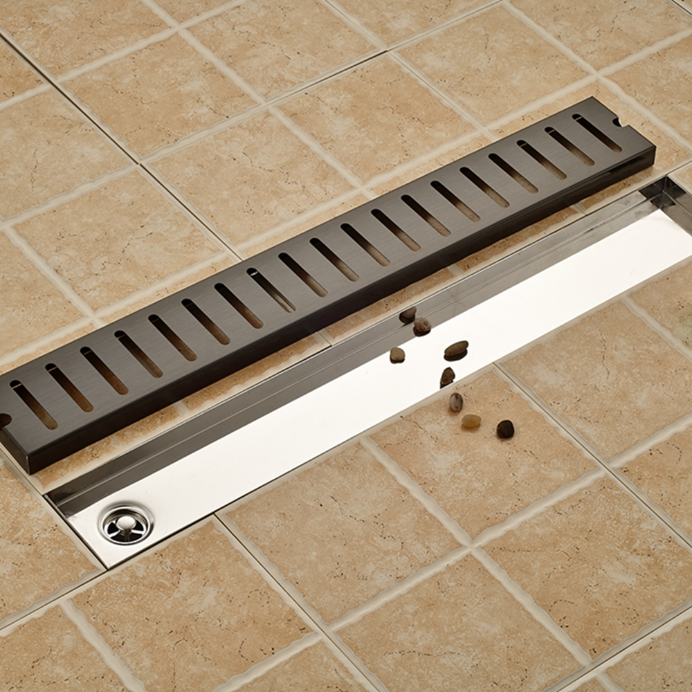 Flower Carved Black Color Floor Drain Square Bathroom Shower Grate Waste Drainer