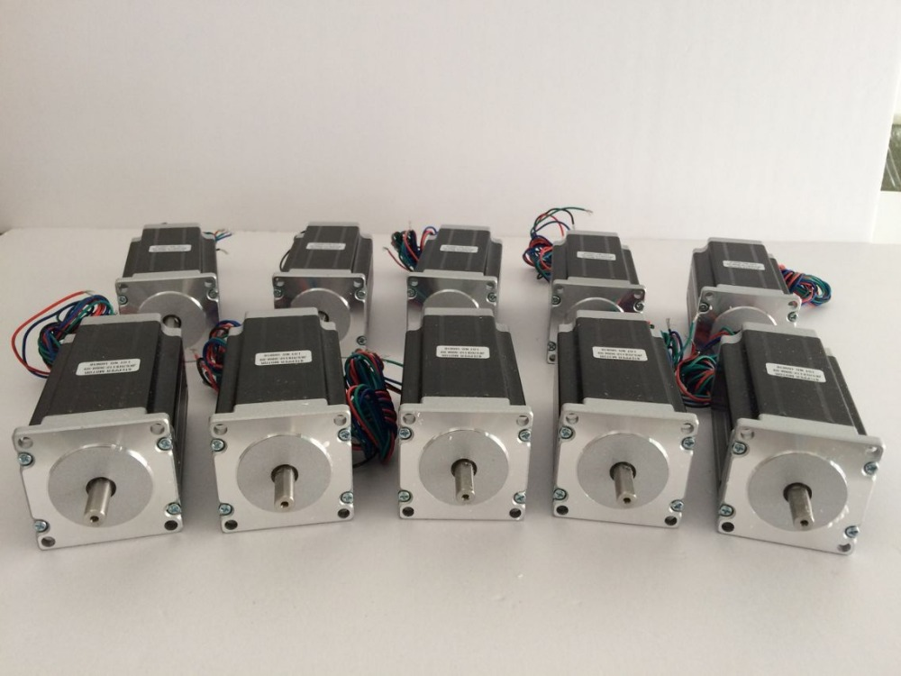 10pcs Single shaft Nema 23 Stepper Motor 57HS112-3004 425 oz/in ( 3NM ) 3A 4Lead, 112mm CNC Mill Cut Laser Engraving