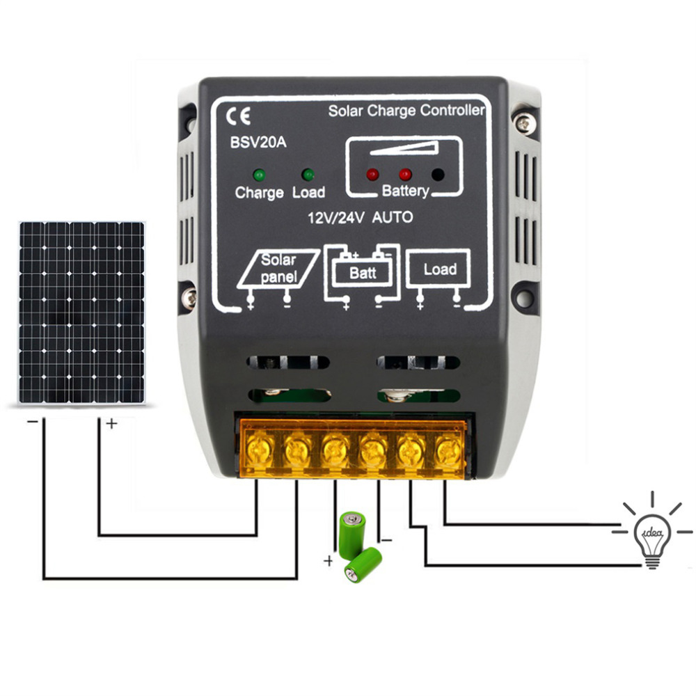 New arrival 20A 12V/24V Solar Panel Charge Controller Battery Regulator Safe Protection Solar Controllers