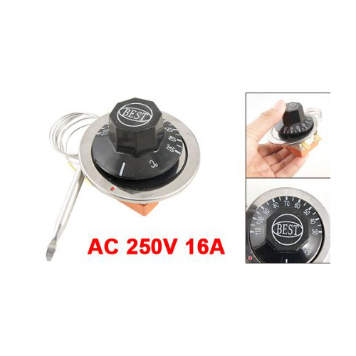 EWS AC 250V 16A 30-110C Temperature Control Capillary Thermostat for Electric Oven
